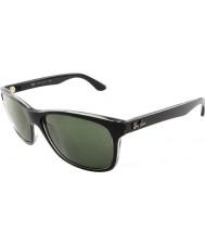 RayBan Rb4181 57 Highstreet top czarny matowy na trasp szarych 6130 okulary