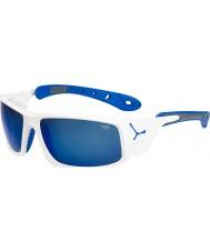 Cebe Ice 8000 błyszczące białe niebieskie okulary