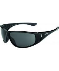 Bolle Highwood błyszczące czarne okulary spolaryzowane TNS
