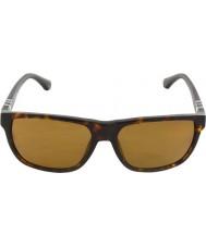 Emporio Armani Ea4035 58 nowoczesnych ciemne okulary polaryzacyjne Havana 502683