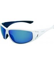 Bolle Highwood błyszczące białe niebieskie okulary polaryzacyjne morskie niebieskie