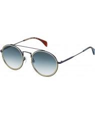 Tommy Hilfiger Th 1455-S bqz 08 matowych niebieskie okulary