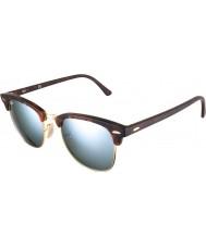 RayBan Rb3016 51 Clubmaster piasku szylkret złota 114530 srebrne lustro okulary