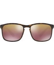 RayBan Rb4264 58 tech chromance matowy brąz Havana 894-6b lusterko spolaryzowane okulary