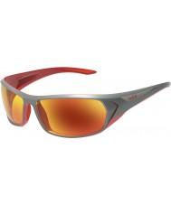 Bolle Blacktail błyszczące czerwone okulary antracyt TNS przeciwpożarowe