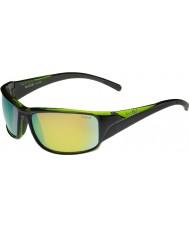 Bolle Keelback błyszczące czarne zielone spolaryzowane okulary brązowe szmaragdowe