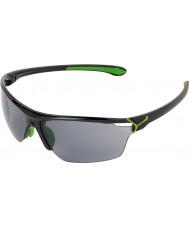 Cebe Cinetik duże błyszczące czarne zielone okulary