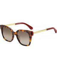 Kate Spade New York Damskie okulary przeciwsłoneczne caelyn s 65t ha 52