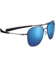 Serengeti Aerial błyszczący ciemny brąz spolaryzowane 555nm niebieskie lustrzane okulary