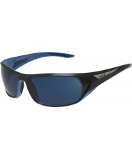 Bolle Blacktail błyszczące czarne niebieskie okulary polaryzacyjne morskie niebieskie