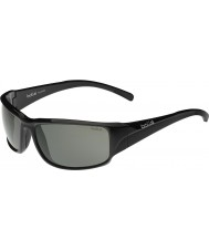 Bolle Keelback błyszczące czarne modulator spolaryzowane okulary szare