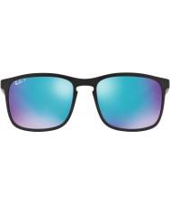 RayBan Rb4264 58 tech chromance matte black 601sa1 niebieski błysk spolaryzowane okulary