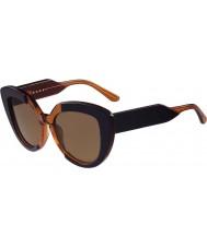 Marni me601s niebieskie i pomarańczowe okulary damskie