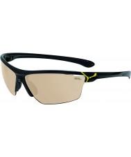 Cebe Cinetik duże błyszczące czarne żółte okulary