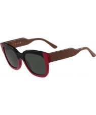 Marni Damskie me604s czarne i czerwone okulary