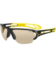 Cebe S-track duże błyszczące czarne okulary