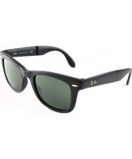 RayBan Rb4105 50 składane wayfarer okulary matowe czarne 601S