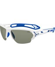 Cebe S-track duże błyszczące białe okulary