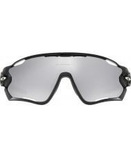 Oakley Oo9290-19 Jawbreaker polerowana czarna - chromowane iryd wentylowane okulary