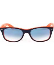 RayBan Rb2132 52 nowe Wayfarer niebiesko-pomarańczowe 789-3f okulary