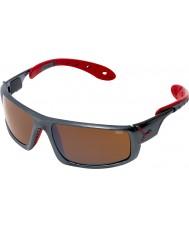 Cebe Ice 8000 ciemnoszary czerwone okulary