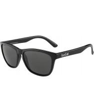 Bolle 437 retro Kolekcja błyszczące czarne okulary spolaryzowane TNS