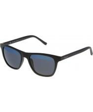Police Mężczyźni na gorąco 1 s1936v-u28b czarny matowy lustrzane niebieskie okulary