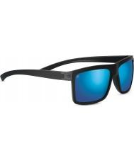 Serengeti Brera szlifowane czarne spolaryzowane 555nm niebieskie lustrzane okulary