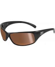 Bolle Odrzut błyszczące czarne złote okulary polaryzacyjne śródlądowe