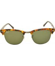 RayBan Rb3016 51 Clubmaster zauważony czarne okulary Havana 1157