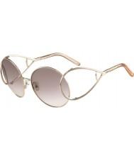 Chloe Damskie ce124s złota i brzoskwiń okulary