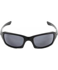 Oakley Oo9238-04 piątki kwadratu polerowany czarny - szary okulary