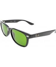 RayBan Junior Rj9052s 47 nowych Wayfarer Czarny Połysk 100-2 okulary