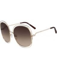 Chloe ce126s Women różowego złota i brązowe okulary