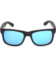 RayBan Rb4165 justin czarno-niebieskie lustro