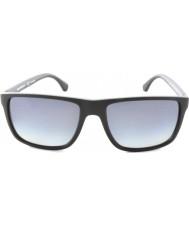 Emporio Armani Ea4033 56 nowoczesne czarno szarej gumy 5229t3 spolaryzowane okulary
