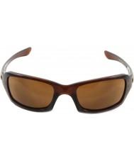 Oakley Oo9238-07 piątki kwadratu polerowane Rootbeer - Ciemno brązowe okulary