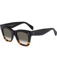 Celine Panie cl 41090-s fu5 Z3 czarne okulary skorupa żółwia