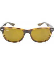 RayBan Junior Rj9052s 47 nowe Wayfarer błyszczące Havana 152-3 okulary