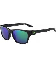 Cebe Hacker błyszczące czarne zielony 1500 szara lampa lustro zielone okulary