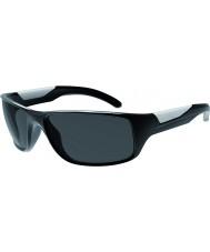 Bolle Vibe błyszczące czarne okulary spolaryzowane TNS