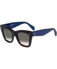 Celine Panie cl 41090-s QLT Z3 czarne Havana niebieskie okulary