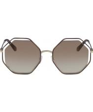 Chloe Damskie ce132s 205 58 makowych okularów przeciwsłonecznych