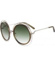 Chloe Panie ce120s Carlina złote okulary khaki