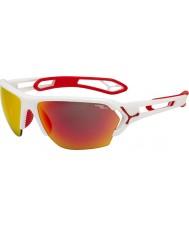 Cebe S-track duży biały matowy czerwone okulary