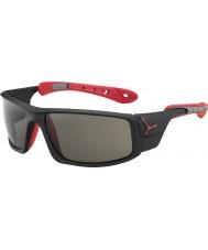 Cebe Ice 8000 matowy czarny czerwony variochrom szczytowe okulary