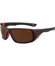 Cebe Jorasses duże czarny matowy czerwony 2000 brązowy flash, lustrzane okulary