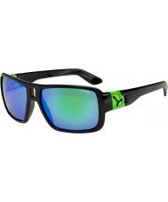 Cebe Lam błyszczące czarne zielone okulary