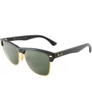 RayBan Rb4175 57 Clubmaster ponadgabarytowych demi błyszczące czarne złoto 877 okulary