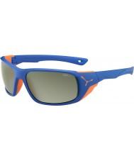 Cebe Jorasses duże pomarańczowe matowe niebieskie lustrzane variochrom peak błysk okularów